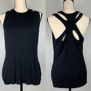 Anthropologie Bailey 44 Black Sleeveless Top L